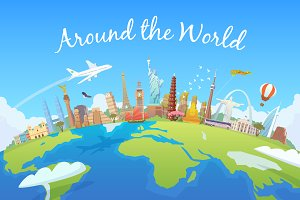 Around the world. Travel collection.