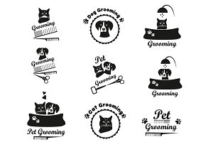 Pet grooming label