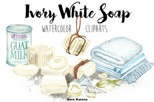 Ivory White Soap Clipart