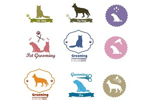Pet grooming,dog grooming label