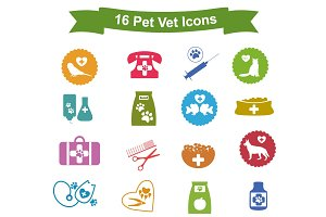 Vector pet vet icons