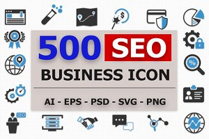 500 Seo Business Icons