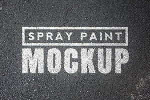 Spray Paint Mockups Bundle
