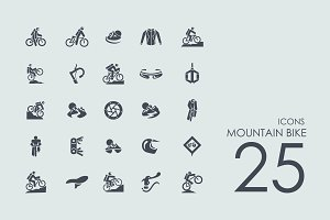 25 Mountain Bike icons