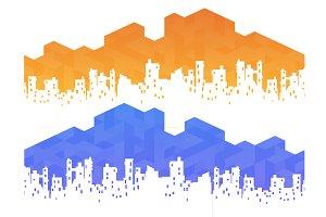 Polygon cityscape background