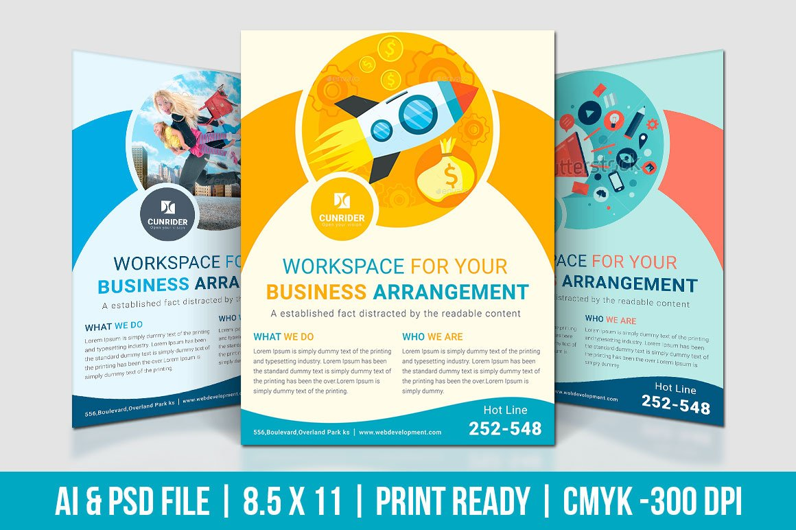 Digital marketing flyer flyer templates creative market for Marketing brochure templates free