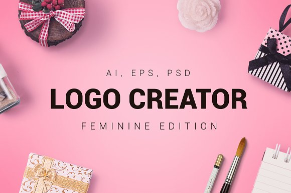 Feminine Logo Creator Templates Creative Market