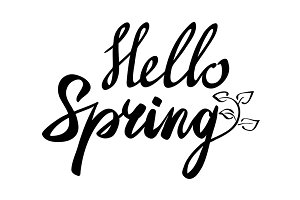 Hello spring inscription