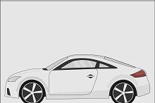 Car grey sport sedan