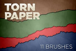 Torn Paper Edges Brush Pack 1