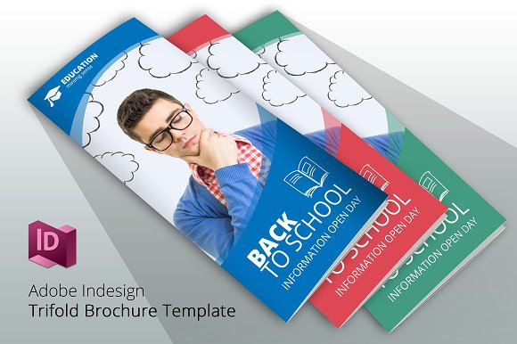 Trifold Back To School Brochure Brochure Templates Creative Market - School brochures templates