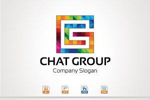 Chat Group,C,G Letter Logo