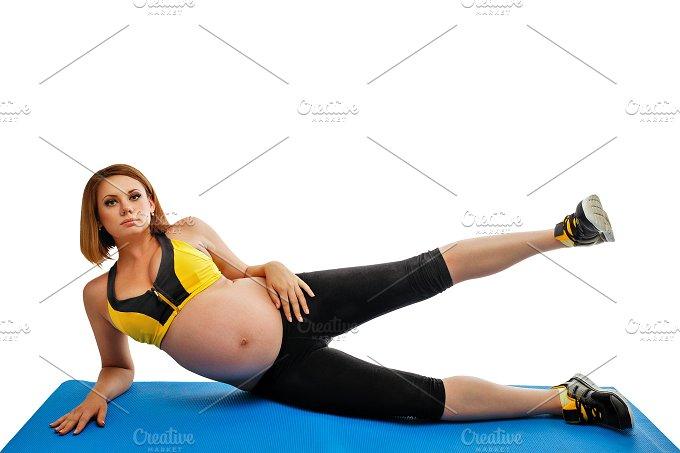 Pilates. Pregnant woman - Sports