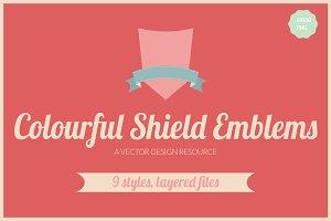 Colourful Shield Emblems/Badges