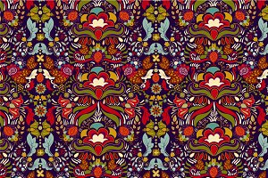 4 Colorful Floral Patterns