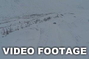 Car On The Snowy Hills