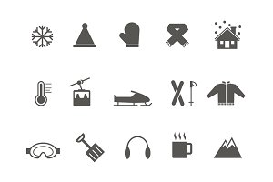 15 Winter and Snow Icons
