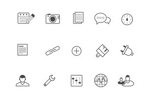 15 WordPress and Blog Icons