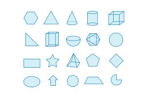 20 Shape and Geometry Icons