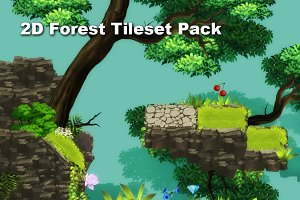 2D Forest Tileset Pack