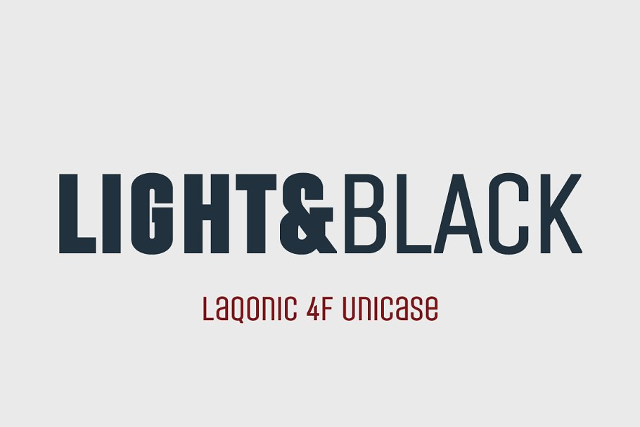 Laqonic 4F Unicase Light&Black