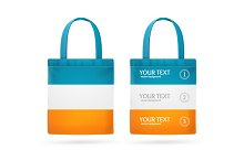 Color Sale Bag Menu Set. Vector