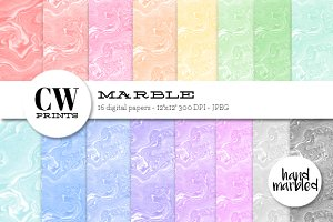 Marble Digital Paper Pack