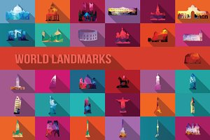 31 World Landmarks - Geometric