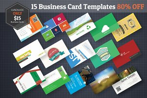 15 Business Cards Bundle 60% Off