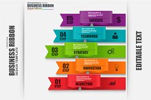 Infographic Ribbon Elements