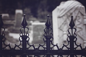 Fence and Headstone