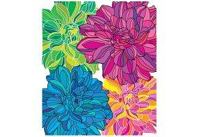 bright floral set
