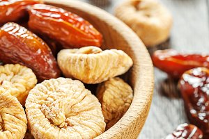 Dates and figs dried fruits