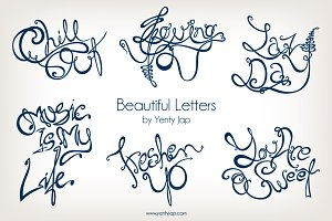 Beautiful Letter Vector Typography