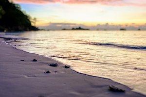 sunrise on the beach at Honeymoon