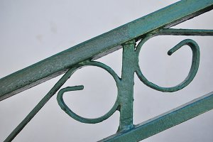 iron railing, detail