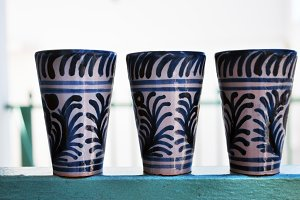 glazed ceramic vessels