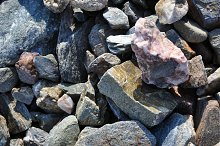 natural stones, pebbles and boulders