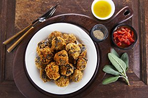 fried eggplant appetizer.