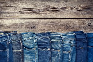 Fashion different jeans