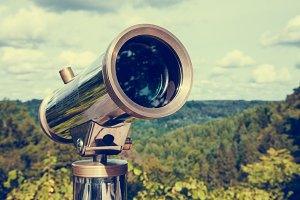 Telescope for landscape exploring.