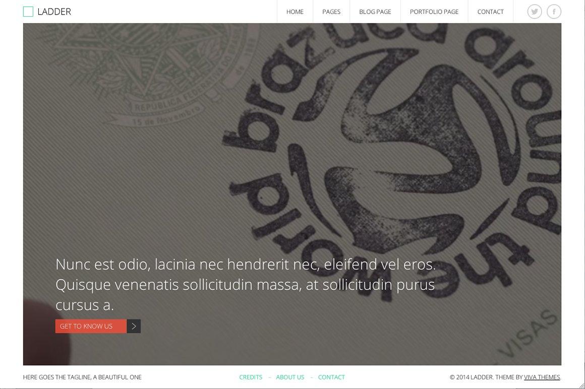Ladder - Video,Image WP Theme ~ WordPress Business Themes ~ Creative ...