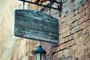 Wooden rustic signboard