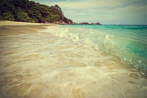 Vintage beach and sea