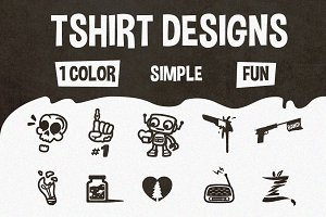 10 Black & White Tshirt Designs