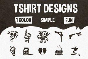10 Black & White Tshirt Designs