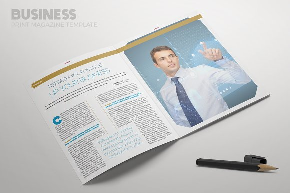 Business magazine magazine templates creative market accmission Image collections