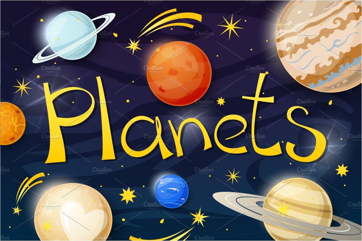 Set of solar system planets ~ Objects ~ Creative Market