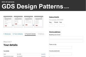 GDS Design Pattern - Axure Kit