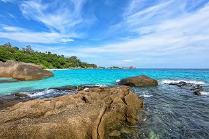 Beach and sea Similan island